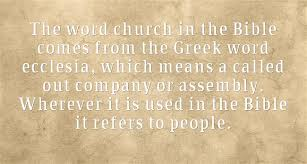 people are the church