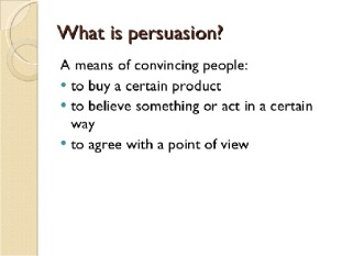 persuation